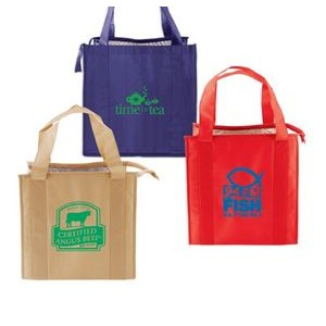 "Red Non-Woven Thermo Tote Bag (13""x10""x15"")"